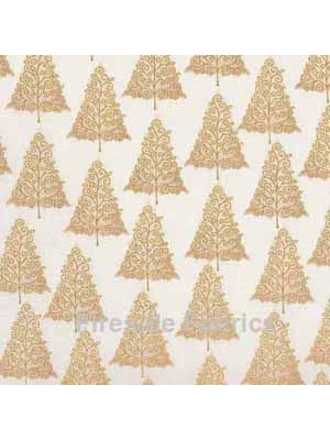 CHRISTMAS  TREES - GOLD/CREAM