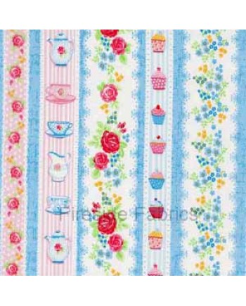 TEA PARTY - BORDER STRIPE