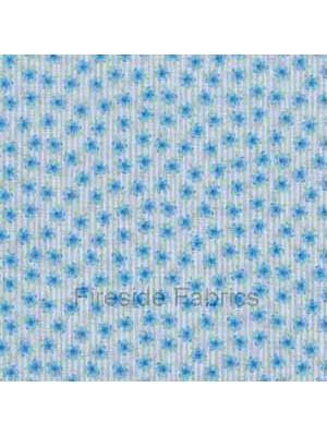 856B - TEA PARTY - DITZY FLOWER - BLUE