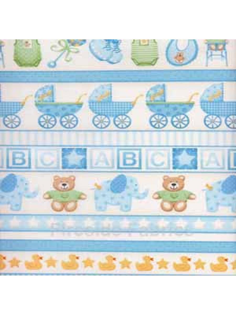 BABY - BORDER STRIPE - BLUE (1 Left)