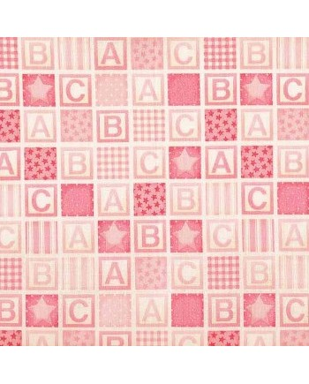 BABY - ABC SQUARES - PINK (2 Left)