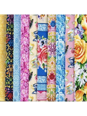 TEACUPS AND ROSES - 10 FAT QUARTER PACK