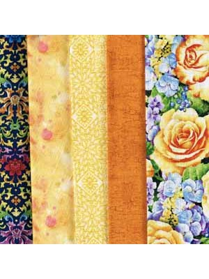 YELLOW ROSE - 5 FAT QUARTER PACK