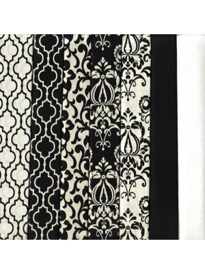 BLACK AND IVORY - 7 FAT QUARTERS