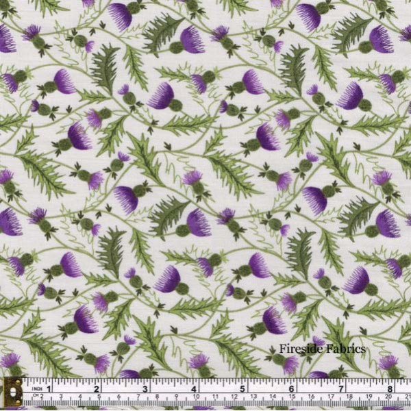 CELTIC COORIE - THISTLES - SCATTERED - CREAM
