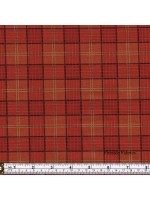CELTIC COORIE - CHECK - HIGHLAND RED/ORANGE