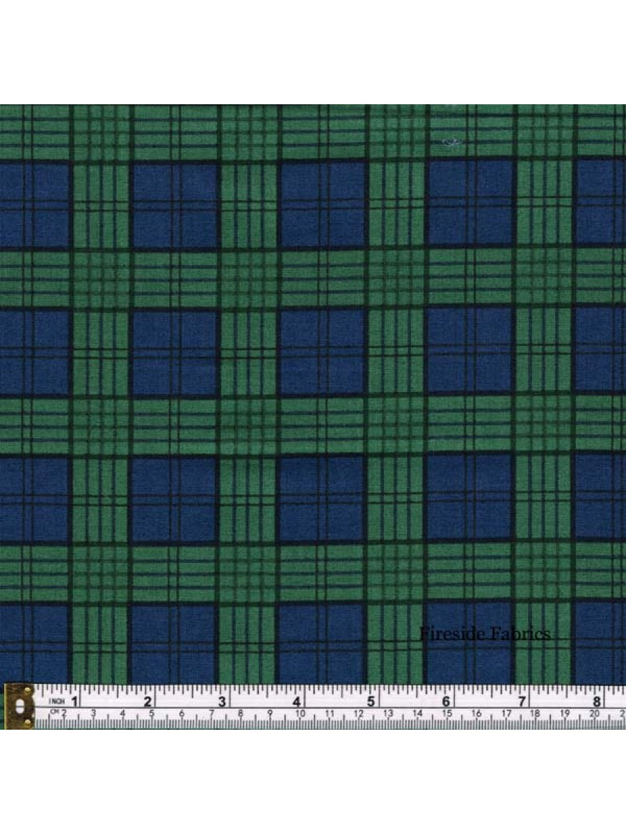 CELTIC COORIE - CHECK - GREEN/BLUE