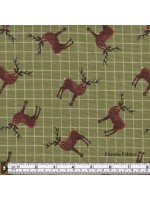 CELTIC COORIE - STAGS - OLIVE GREEN