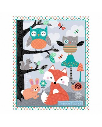 OWLS WOODLAND ADVENTURE COT PANEL