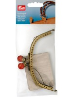 BAG HANDLE - ANTIQUE GOLD - 12.5 X 5.5CM - ALEGRA
