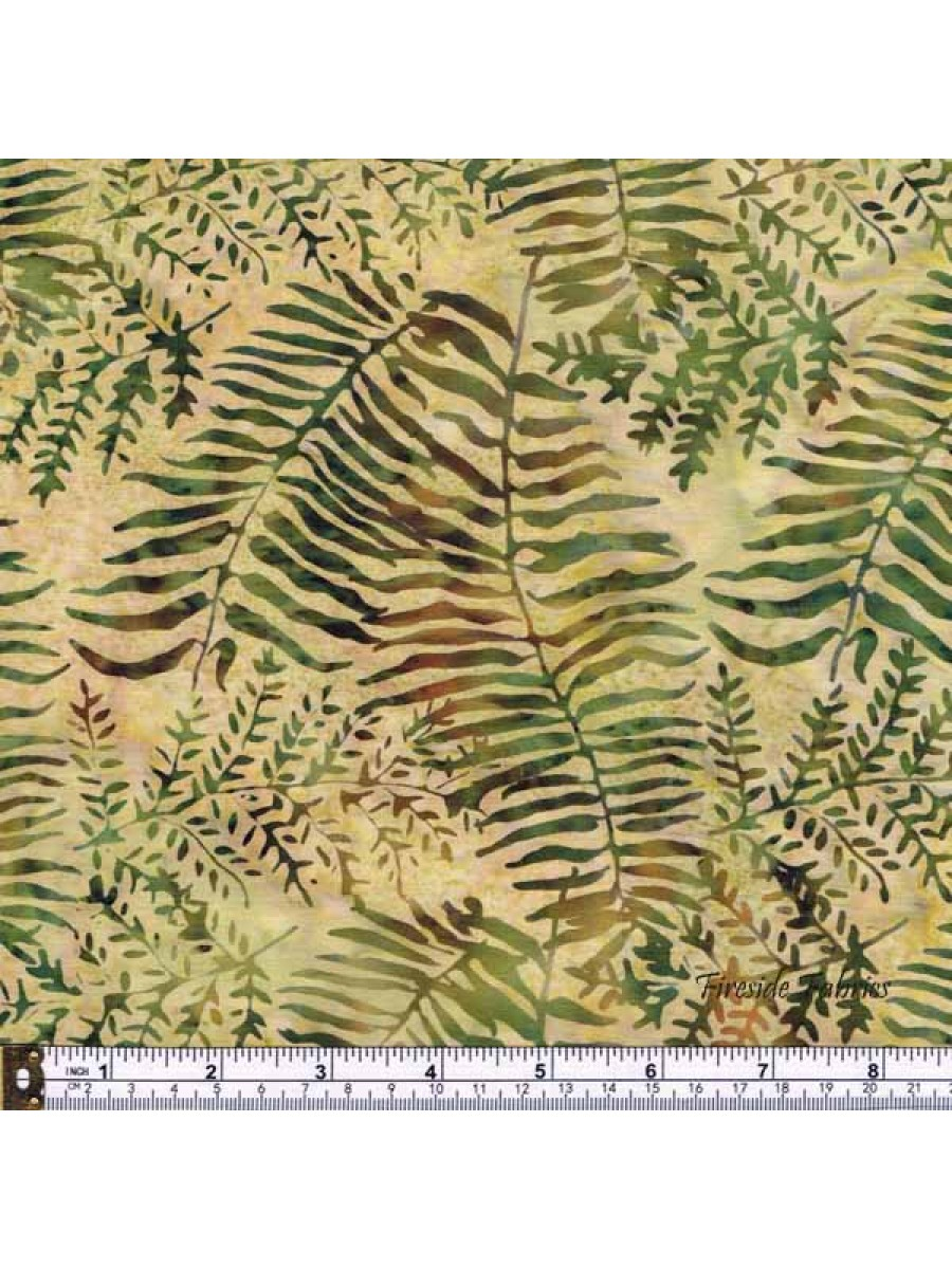 BATIK - FERNS - GREEN
