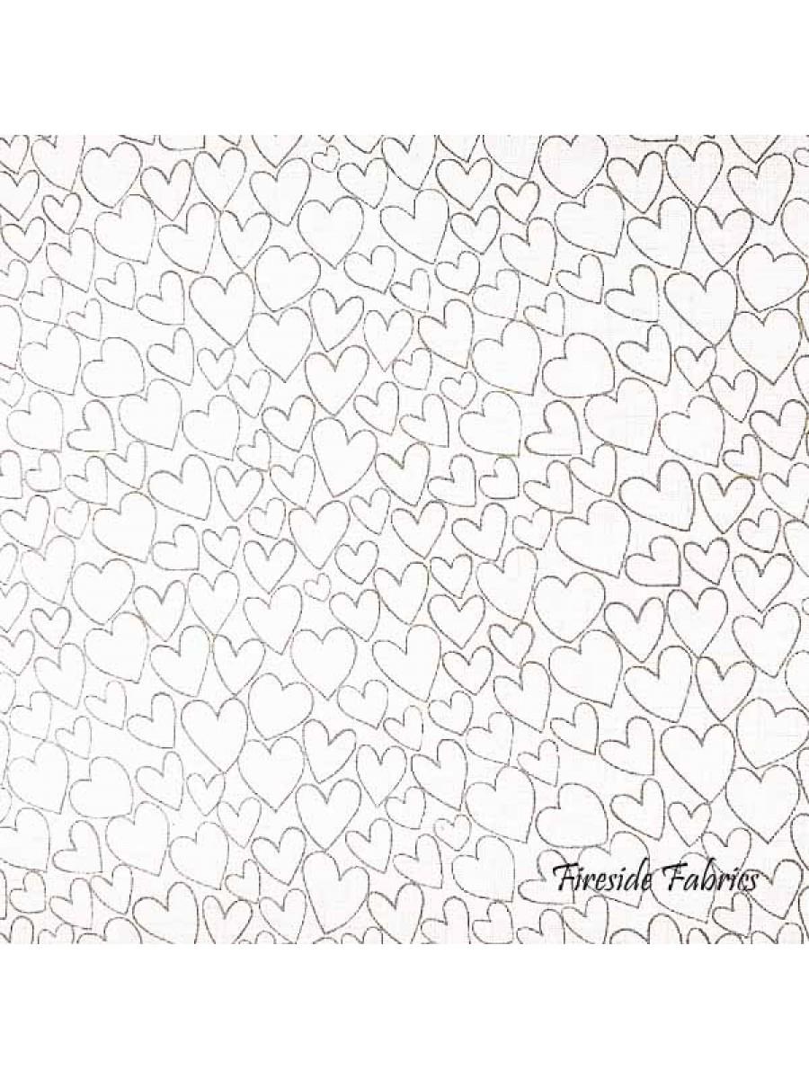 WHITE ON WHITE - HEARTS