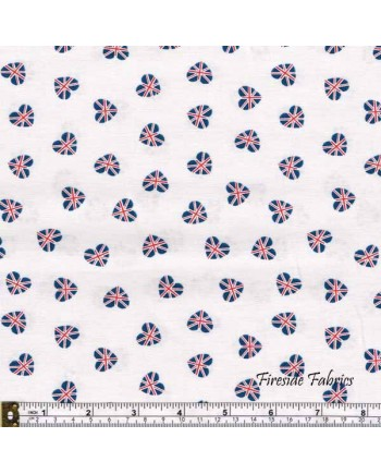 BRITANNIA - UNION JACK HEARTS - CREAM