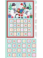 JOLLY SANTA FABRIC ADVENT CALENDAR PANEL