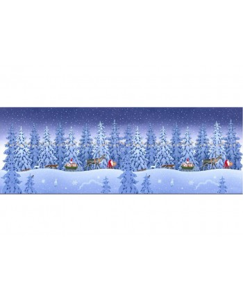 KEEP BELIEVING - DOUBLE EDGE BORDER  (Wide fabric)
