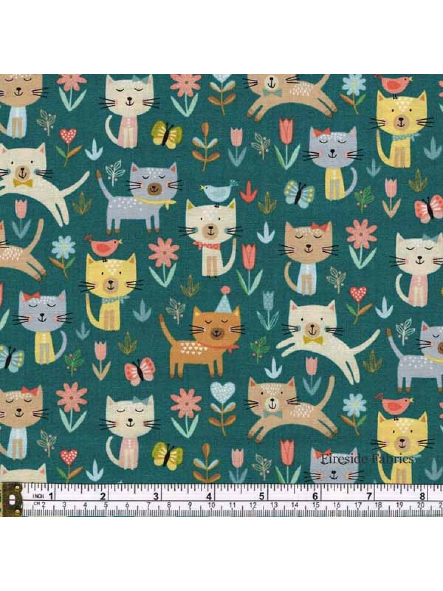 COOL CATS - JUMPING - TURQUOISE