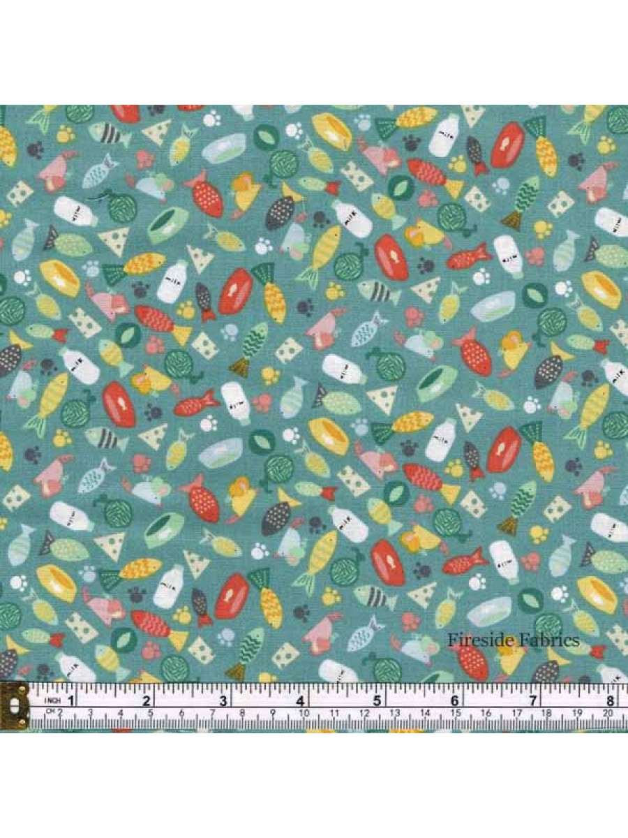 COOL CATS - SCATTER - TURQUOISE