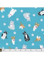 CATTITUDE - CATS- SCATTERED - BLUE