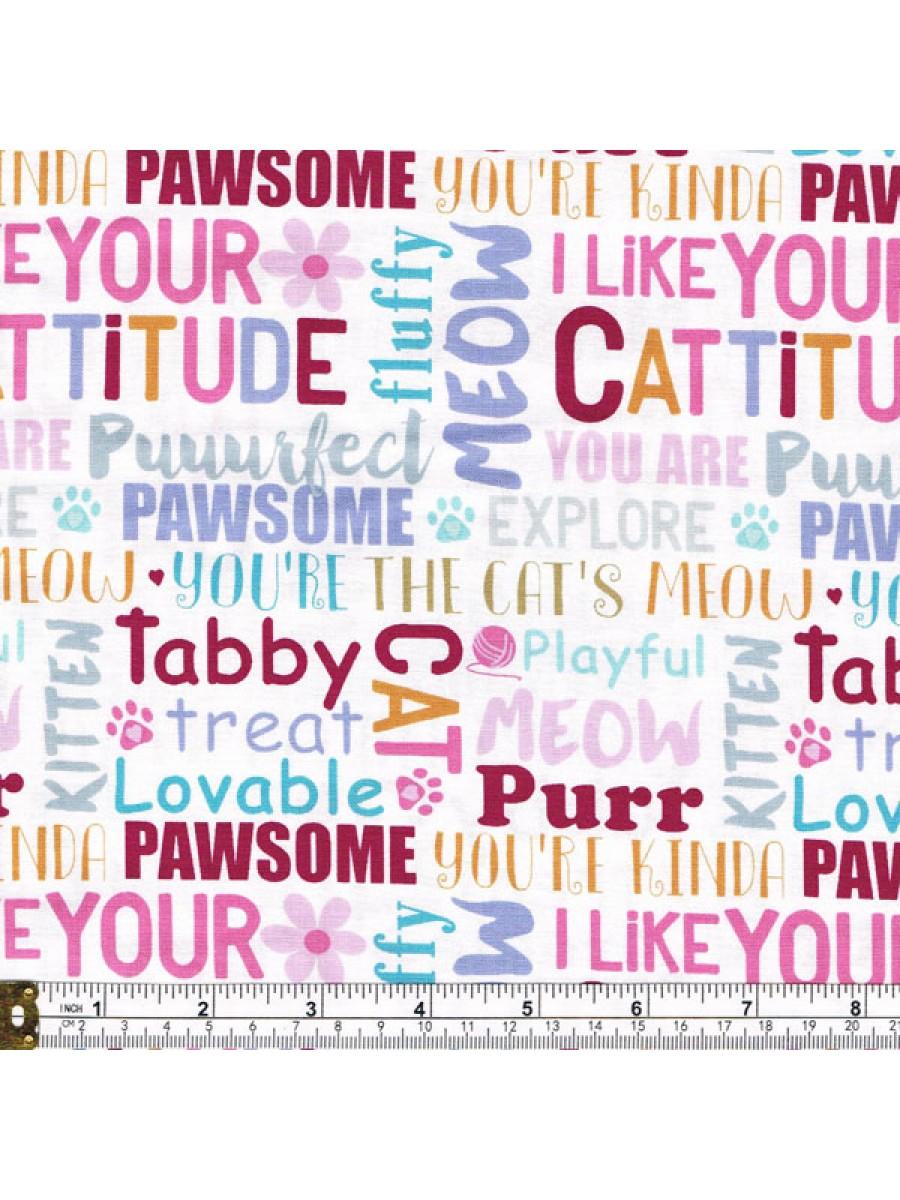 CATTITUDE - WORDS - WHITE