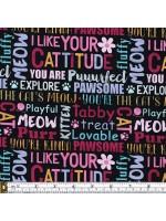 CATTITUDE - WORDS - BLACK