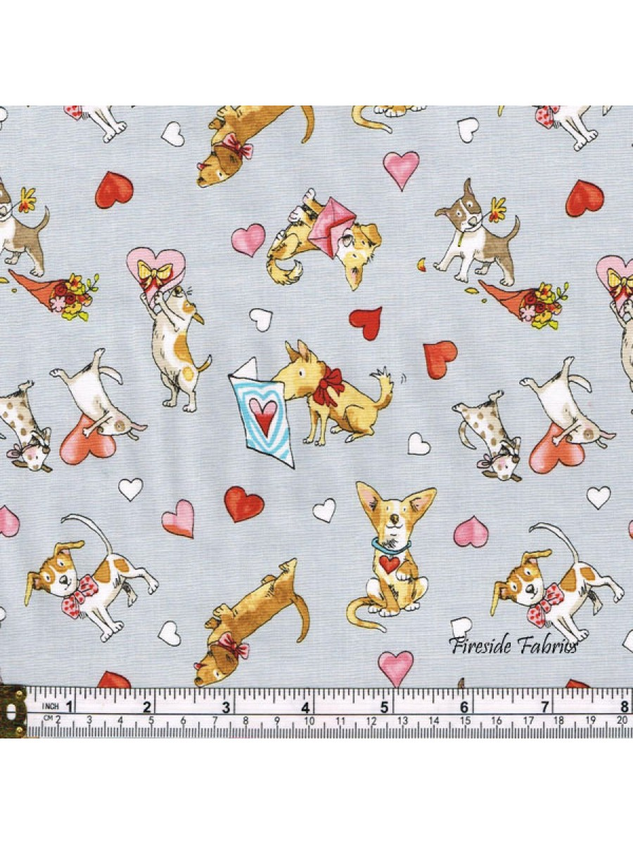 PUPPY LOVE - SCATTERED - LIGHT GRAY