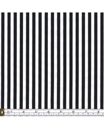 STRIPE - BLACK AND WHITE - 1/4 Inch