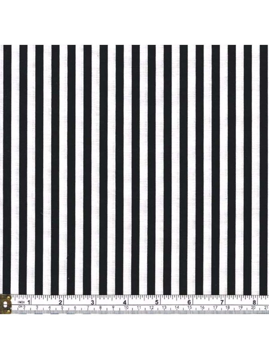 STRIPE - BLACK AND WHITE - 1/4 Inch