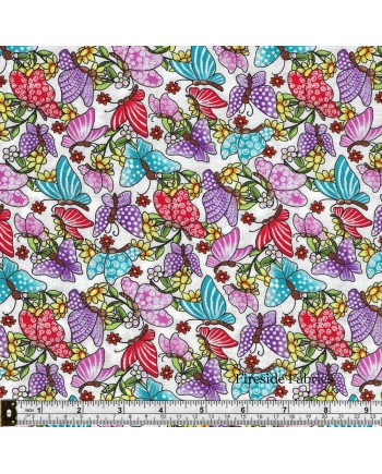 PIXIE PATCH - BUTTERFLIES - WHITE