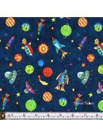 SUPER SPACEY - SPACESHIPS - BLUE