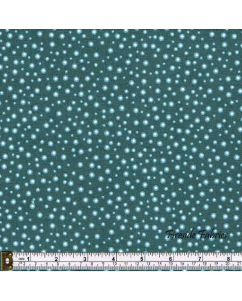 FAIRY LIGHTS - GLOW SPARKLES - DUSKY GREEN - GLOW IN THE DARK FABRIC