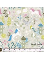 FAIRY LIGHTS - UNICORN FOREST - NATURAL - GLOW IN THE DARK FABRIC