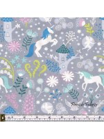 FAIRY LIGHTS - UNICORN FOREST - GREY - GLOW IN THE DARK FABRIC