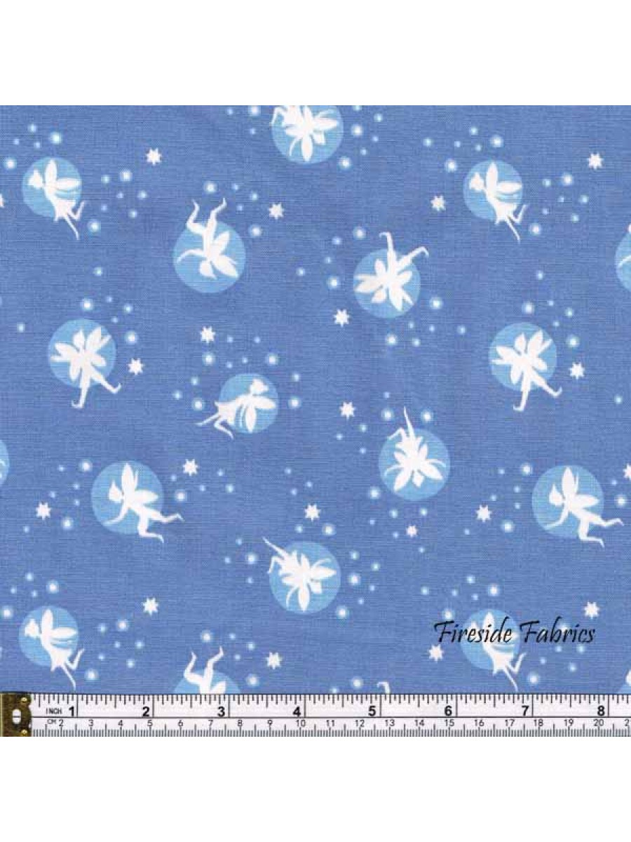 FAIRY LIGHTS - FAIRIES - LAVENDER - GLOW IN THE DARK FABRIC