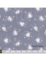 FAIRY LIGHTS - FAIRIES - GREY - GLOW IN THE DARK FABRIC