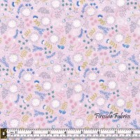 FAIRY LIGHTS - MAGICAL FLOWERS - PINK - GLOW IN THE DARK FABRIC