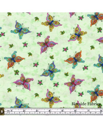 FAIRY LAND - BUTTERFLIES - GREEN