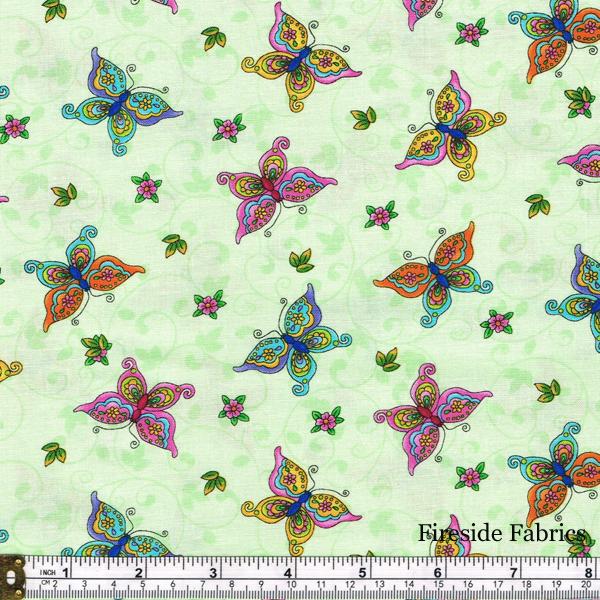 FAIRY LAND - BUTTERFLIES - GREEN