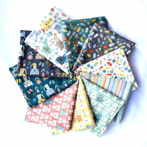 COOL CATS - 10 FAT QUARTER PACK