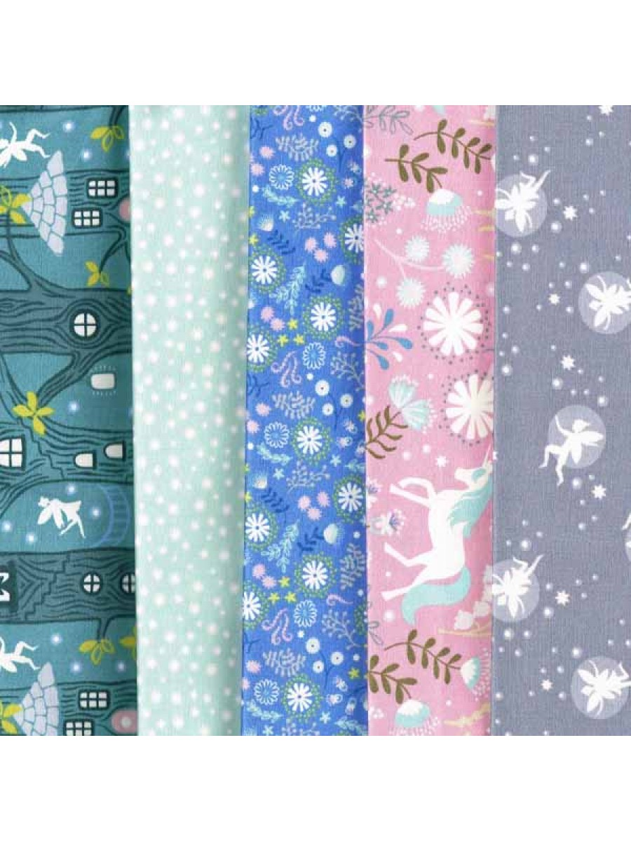 FAIRY lIGHTS - 5 FAT QUARTER PACK