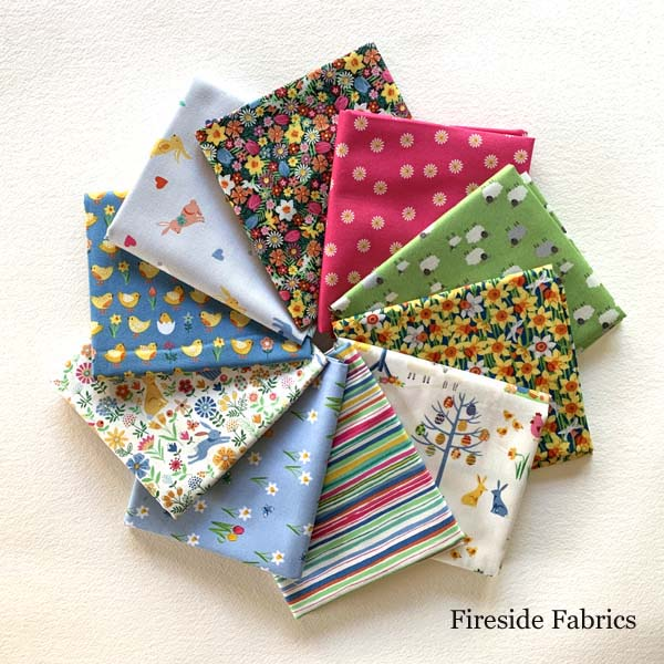 SPRING - 10 FAT QUARTER PACK - PINK
