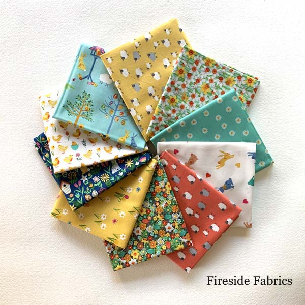 SPRING - 10 FAT QUARTER PACK - TURQUOISE