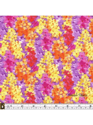 BLOOM BOUQUET - ABSTRACT FLORAL - ORANGE