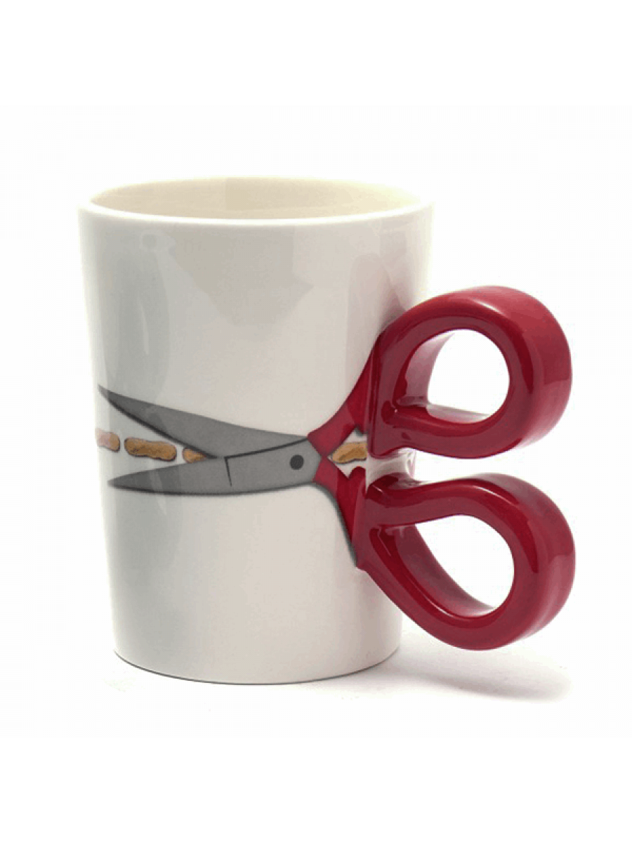 SEW THIRSTY MUG - RED HANDLES