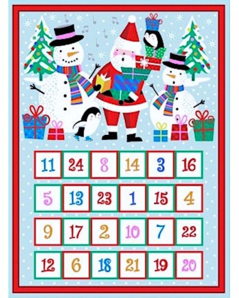 JOLLY SANTA ADVENT CALENDAR KIT