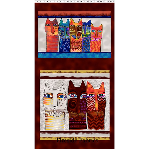 FELINE FROLIC - PILLOW PANEL - MULTI