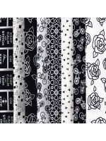 BLACK AND WHITE 8 FAT QUARTER PACK