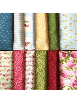BOTANICALS- 12 FAT QUARTER PACK