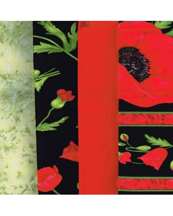 POPPIES - 4 FAT QUARTER PACK