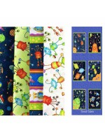 SUPER SPACEY - 4 FAT QUARTER + PANEL PACK