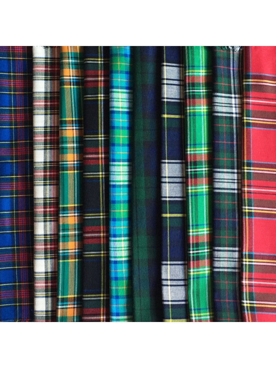 TARTAN - 10 FAT QUARTER PACK
